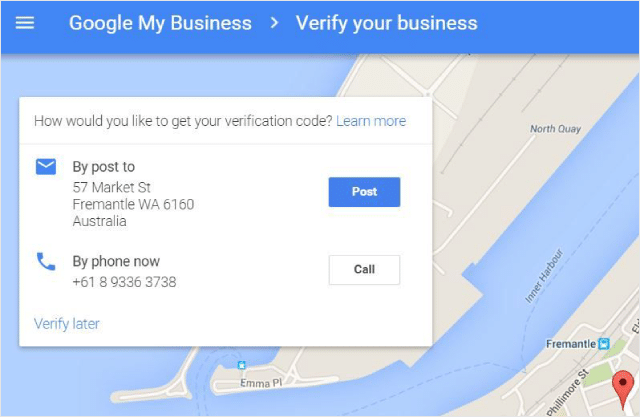 Google My Business Phone Verification